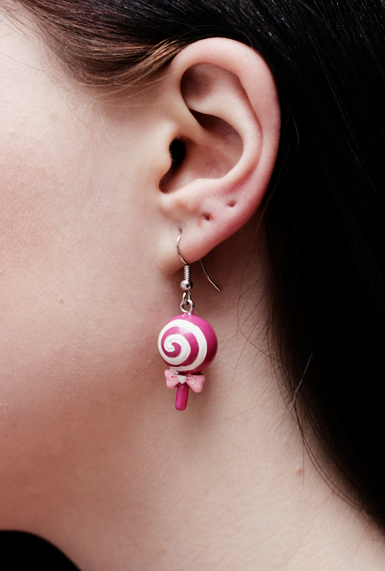 Lollipop 3d -korvakorut -pinkki