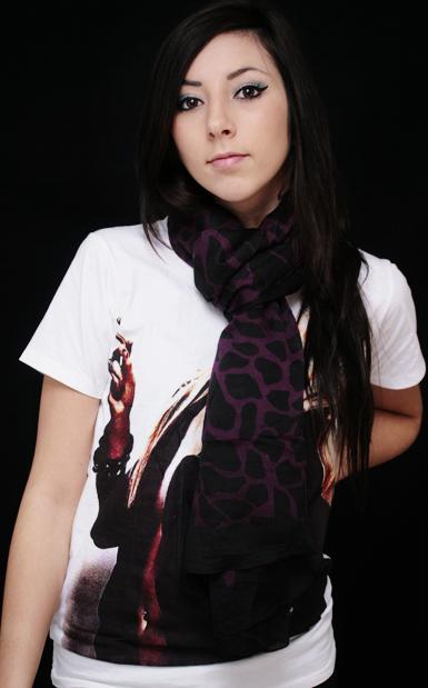 Jungle -huivi -musta/violetti