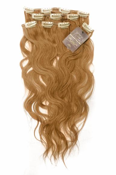 Aitohiuspidennys -kihara Klipsikiinnitys 20 -dark Blond