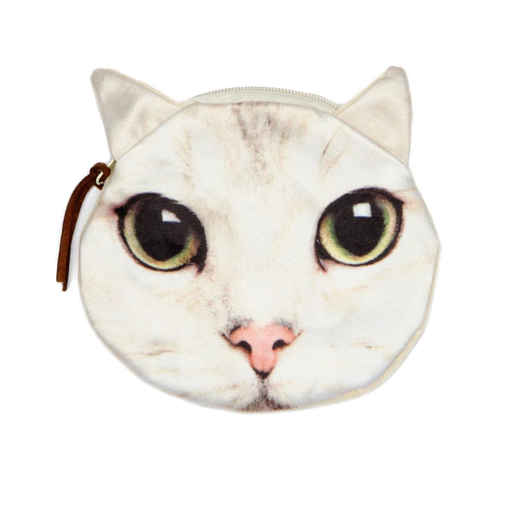 Valkoinen pieni käsilaukku : Valkoinen pieni kissapussukka cyber