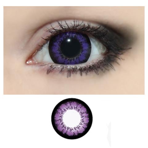 Xtra 2tone -violetti -v�rilliset Piilolinssit -1 Vuosi -pari!!