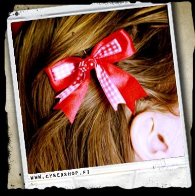 Hiusklipsi -bow W/ Dice -punainen