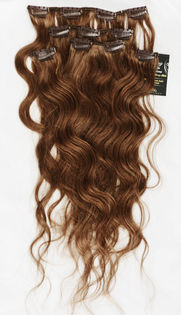 "Clip-on 5-os 80g 20"" -Kihara -Medium Brown #6"