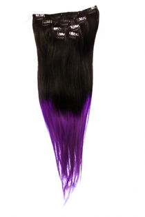 "Clip-on 5-os 80g 20"" -Black/Purple Slide"