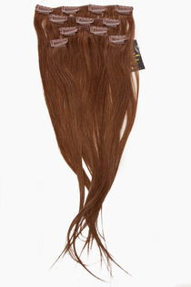 "Clip-on 5-os 80g 20"" -Medium Brown #6"