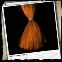 Fiber hair -Carrot Orange