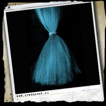 Fiber hair -Light turquoise