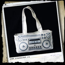 GhettoBlaster HandBag -White