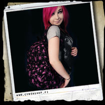 SchoolBag -Black w/ pink spiders
