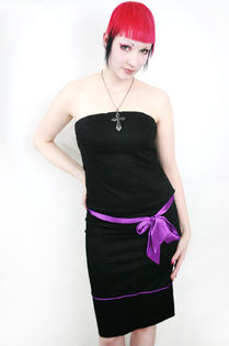 Jupiter Pinja Skirt -Black/purple