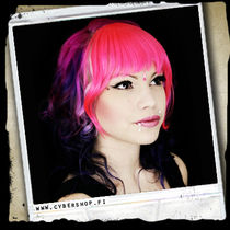 Synthetic Clip-On Forelock - Shocking Pink