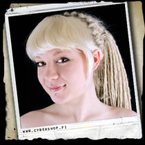 A. Synthetic Clip-On Forelock -Blond