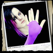 NetGloves w/ holes on sides -Purple