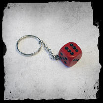 Keyring -Dice -Red -A/24/4