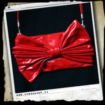 A. Latex HandBag - Red