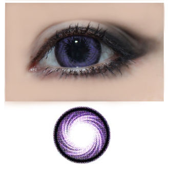 Hurricane -Violetti -Värillinen Piilolinssi Vahvuuksilla -1 vuosi