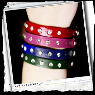 Leather Bracelet w/ Bling! -Many colors