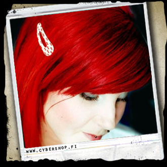 HairClip -Very Cherry -White