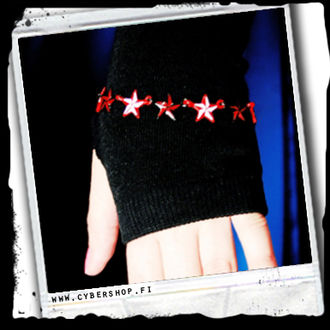 Bracelet -Northern Stars -Black/red -A/23/3