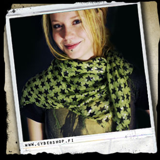 India scarf -Green with stars -0/0/0