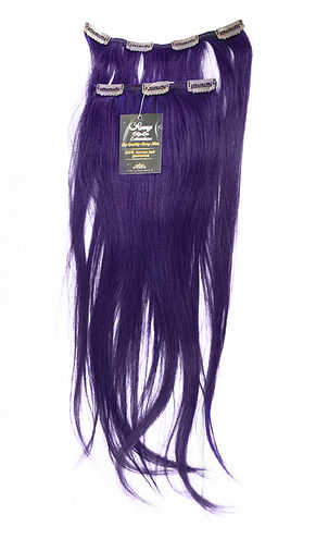 A. Clip-On human Hair - Purple
