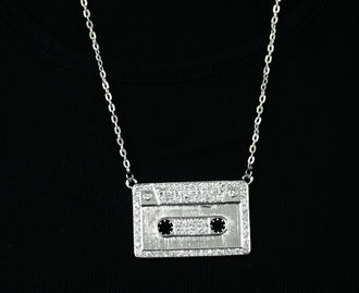 A.Necklace -Cassette w/ bling