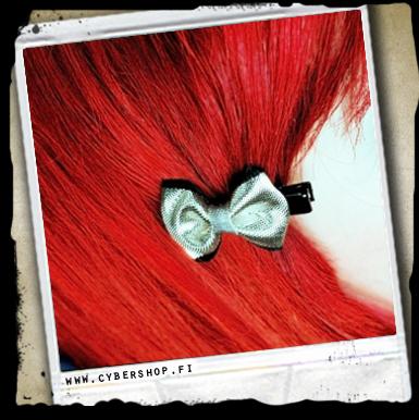 Hairclip -bow -silver