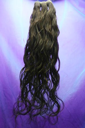Aitohiuspidennys -luonnonkihara Hiusnauha 20 -dark Brown