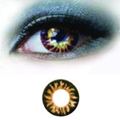 Magic Eye 3-tone -brown Special -v�rilliset Piilolinssit -1 Vuosi -pari!!