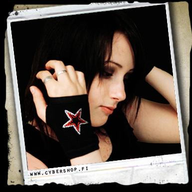 Gloves W/ Thumbholes -bling Star
