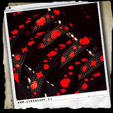 Syd�n Ja T�hti Keng�nnauhat -musta/punainen