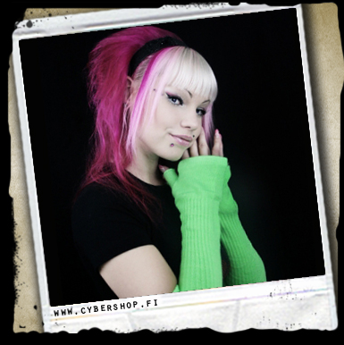 Thick Armwarmers -neon Green