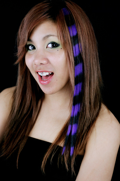 Tekokuituraita -striped Purple/black