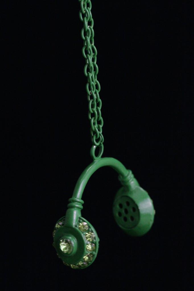 Headphones -kaulakoru -iso Vihre�