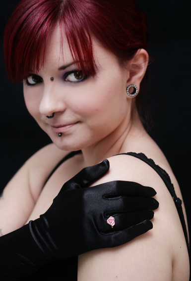 Diamond W/ Bling -sormus -vaaleanpunainen