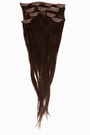 "Aitohiuspidennys Clip-on 5-os 70/80g 12""/20"" -Dark Brown"