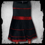 Jupiter -Velvet stripe skirt -Black/red