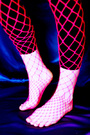 Net Stockings -Big net -Pink