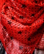 India scarf w/ stars -Red