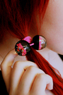 HairBands -Balls w/ bambi -Black/pink