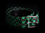 Belt w/ Checkers -Black/green