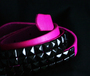 Belt -Thin pink w/ black or silver studs