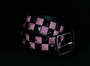 Belt w/ studs -Checkers -Pink/black