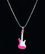 Necklace -Pink guitar