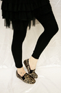 Leopard shoes -Brown/black