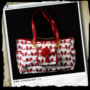 A. Bag W/ Purse -white W/ Skulls And Bows