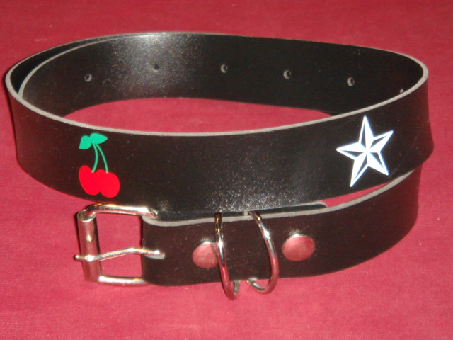Star/cherry Belt -artificial Leather