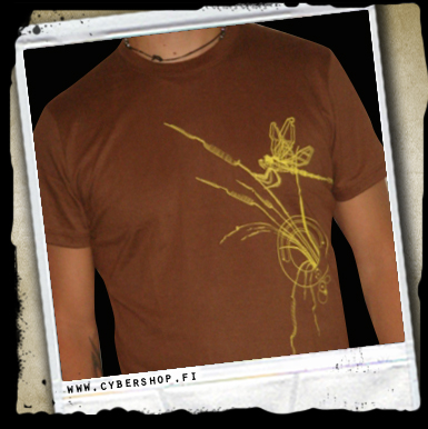 Plazma Tee -dragonfly -brown