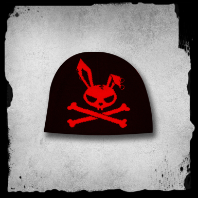 Beanie -skull Bunny Cap With Piercings-red-g/2/1
