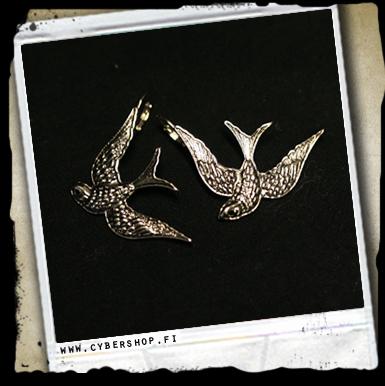 Swallow -korvakorut -iso Hopeanv�rinen